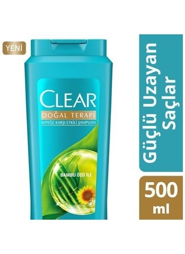 Clear Clear Şampuan Doğal Terapi Güçlü Uzayan Saçlar İçin 500 Ml Renksiz